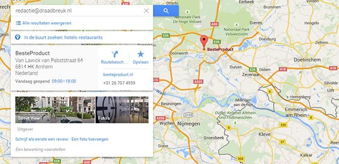 Eng: Google Maps weet waar jij bent