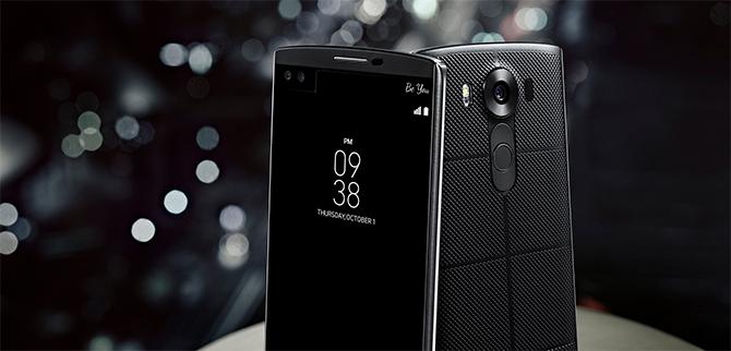 LG V10 getoond: smartphone ziet dubbel