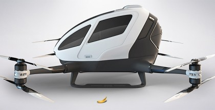 Ehang 184 banana for scale