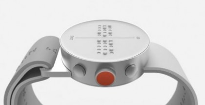 De braille smartwatch, lekker industrieel design