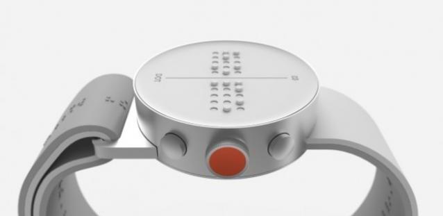 De braille smartwatch, lekker industrieel design