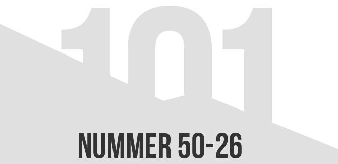Draadbreuk top 101 van 2014: 50 t/m 26