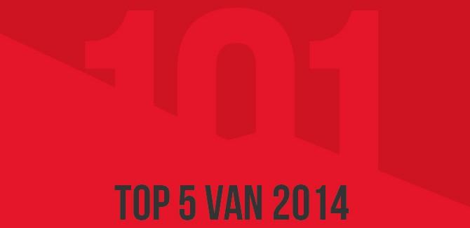 Draadbreuk top 101 van 2014: top 5
