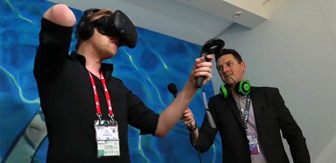 HTC Vive vr-headset getest door Draadbreuk (video)