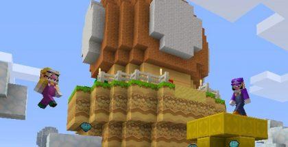 Mario Minecraft wii u